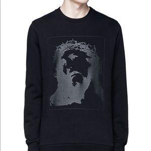 Givenchy black jesus sweatshirt